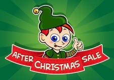 Dopo l'insegna di vendita di Natale Immagine Stock Libera da Diritti