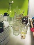 Dopo la cucina del partito Fotografia Stock