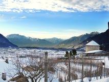 Dopo la neve un bello paesaggio Fotografia Stock Libera da Diritti