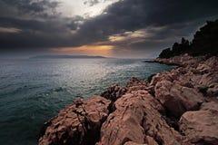 Dopo la pioggia in Makarska immagini stock libere da diritti