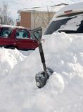 Dopo la tempesta della neve Fotografia Stock Libera da Diritti