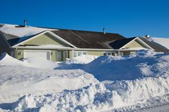 Dopo la tempesta della neve Fotografia Stock