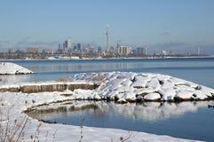 Dopo la tempesta della neve un il bello giorno Fotografie Stock