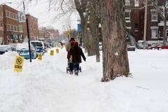 Dopo la tempesta a Montreal Fotografia Stock Libera da Diritti