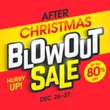Dopo la vendita dello scoppio di Natale illustrazione di stock