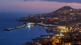Dopo la vista panoramica di tramonto a Funchal, il Madera video d archivio