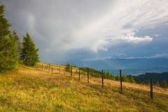 Dopo pioggia nelle alpi di Gerlitzen Fotografia Stock Libera da Diritti