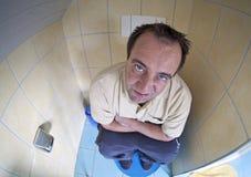 Dopo una notte insonne con diarrea Fotografie Stock