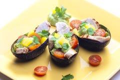 Dopp för feg sallad och avokado royaltyfri bild