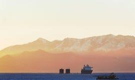 Doppa lastfartyget royaltyfri fotografi