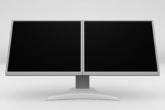 Doppel-LCD-Bildschirmanzeige 08 vektor abbildung