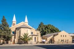 Doppel-spired Holländer verbesserten Kirche und Halle in Bloemfontein Lizenzfreies Stockbild
