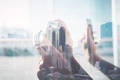 Doppelbelichtung der Weinlesekamera Lizenzfreie Stockbilder