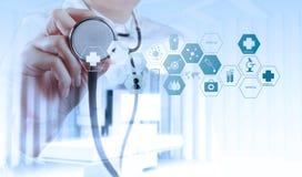 Doppelbelichtung intelligenter Arztfunktion lizenzfreies stockfoto