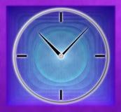 Doppelbelichtung von Uhren und von abstraktem Hintergrund lizenzfreie abbildung
