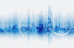 Doppelbelichtungs-Geschwindigkeitsmesser mit futuristischem Geschwindigkeits-Bewegungs-Hintergrund stockfoto