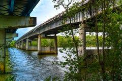 Doppelbrücken oben Stockbild