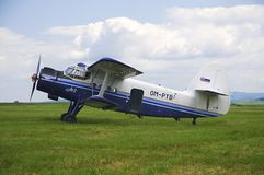 Doppeldecker Antonov AN2 Stockbild