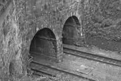 Doppeleisenbahntunnel Lizenzfreie Stockfotos