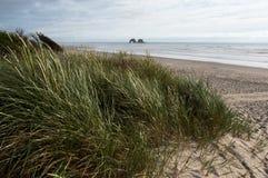 Doppelfelsen auf Oregon-Küste lizenzfreies stockbild