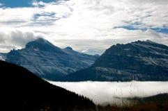 Doppelgletscher am Glacier Nationalpark Lizenzfreie Stockfotografie