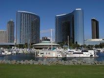 Doppelhotels San Diego Stockbilder
