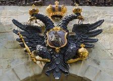Doppelköpfiger Adler, das Symbol von Russland (Peter und Paul Fortre Stockbilder