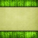 Doppellagiger Hintergrund - Papierblatt auf Retro- Muster Stockfoto