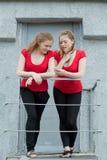 Doppelmädchen Stockbilder