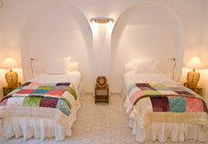 Doppelschlafzimmer-Innenraum Stockfoto