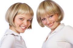 Doppelschwestern lizenzfreie stockfotos