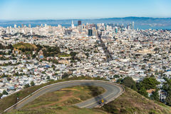 Doppelspitzen, San Francisco, Kalifornien, USA Lizenzfreies Stockfoto