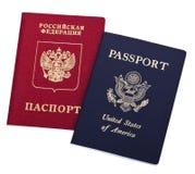 Doppelstaatsangehörigkeit - Amerikaner u. Russe Stockfoto