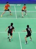 Doppelte der Männer, Badmintonasien-Meisterschaften 2011 Stockfotos