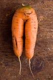 Doppelte Karotte Stockfoto