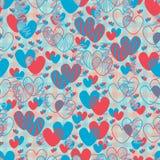 Doppelte Linie nahtloses Muster der Liebe Lizenzfreie Stockfotografie