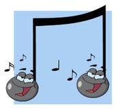 Doppelte musikalische singende Anmerkung Lizenzfreies Stockbild