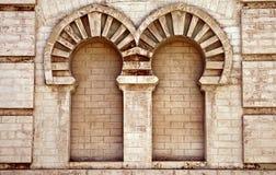 Doppelte Nische im alten Haus in Cadiz Stockbild