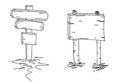 Doppelte Pfeile Hand gezeichnete Skizze Auch im corel abgehobenen Betrag Dieses ist eine 3D übertragene Abbildung Gekritzelskizze stock abbildung