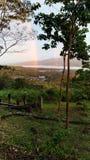 Doppelte Regenbogen stockbilder