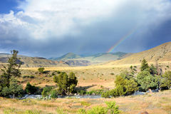 Doppelte Regenbogen-Formen Stockfotos