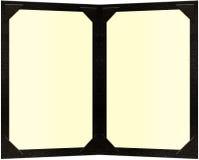 Doppelte Seite eingestecktes Menü Lizenzfreies Stockbild