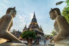 Doppelte Symmetrie alte Buddha-Bilder Stockbilder