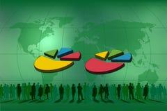 Doppelte Tortegraphik für Statistiken Lizenzfreie Stockfotos