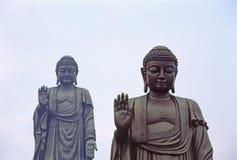 Doppelter Buddha Stockfoto
