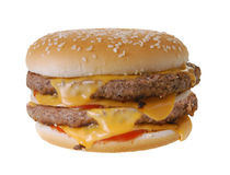 Doppelter Cheeseburger Lizenzfreie Stockfotos
