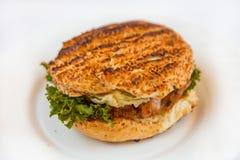 Doppelter Cheeseburger Stockfotografie