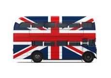 Doppelter Decker Bus Britain Flag lizenzfreie abbildung