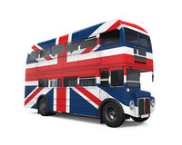 Doppelter Decker Bus Britain Flag Stockfotos
