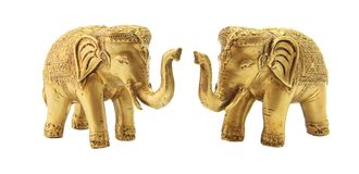 Doppelter Elefant verzieren lizenzfreie stockfotografie